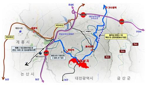 대전시, 서구 평촌일반산업단지 조성사업 기공식 개최-서구 평촌산단 위치도.jpg