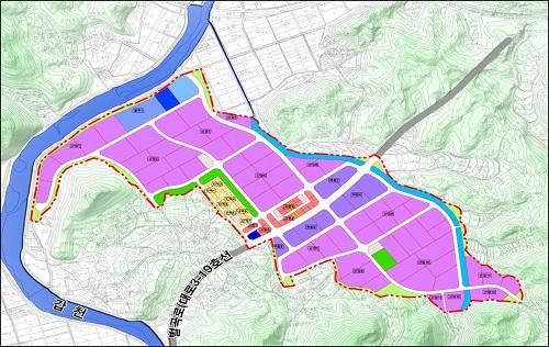 대전시, 서구 평촌일반산업단지 조성사업 기공식 개최-서구 평촌산단 토지이용계획도.jpg